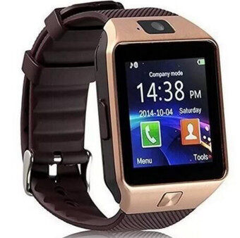 DZ09 Bluetooth Smart Watch Sim insert Anti-lost Call Reminder for Android IOS (Gold)