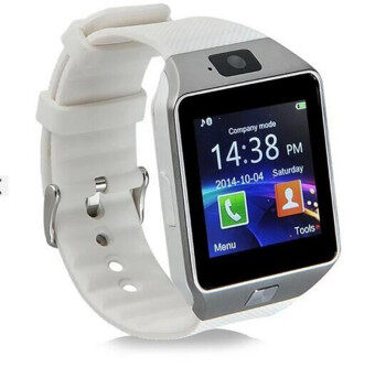 DZ09 Bluetooth Smart Watch Sim insert Anti-lost Call Reminder for Android IOS (White)
