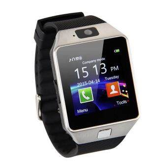 DZ09 Smart Watch Bluetooth Touch Screen Phone Mate GSM SIM forAndroid IOS Samsung HTC LG (SilverBlack)
