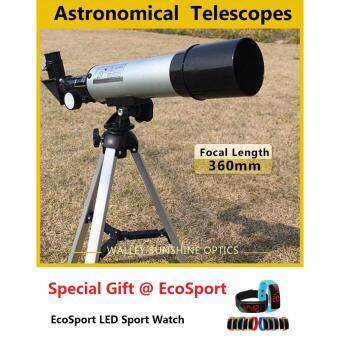 EcoSport F36050 Telescope 90X High Power Monoculars Refractor Type Space Astronomical Telescope With Portable Tripod + Free Sport Watch