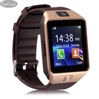 EsoGoal Bluetooth Digital Smart Watch Mobile Phone Smart Watch Camera GSM SIM Card Wrist Touch Screen Watch for Android Smartphones (Gold)