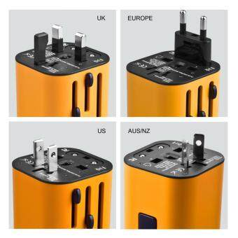 Eyerayo Detachable Universal World Travel Charger Dual 3.2A USBPorts US To UK EU AU All In One Worldwide Travel Power AdapterSafety Fuse Protection Adaptor International AC Wall Charger