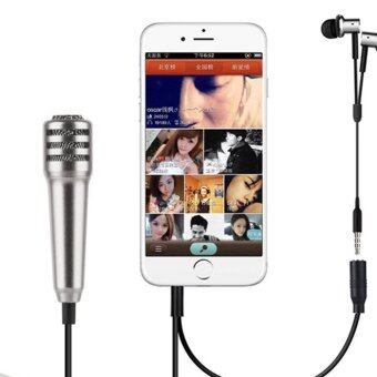 Fashion Mini Microphone for Mobile phone Tablet Pad (Silver)