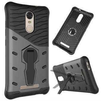 For Xiaomi Redmi Note 3 Case Heavy Duty Rugged Armor ShockproofCase with 360 Degree Swivel Rotating Kickstand Case for Red Mi(Black)