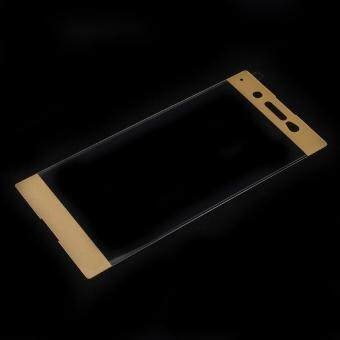 Full Size Tempered Glass Screen Protector for Sony Xperia XA1 Ultra- Gold