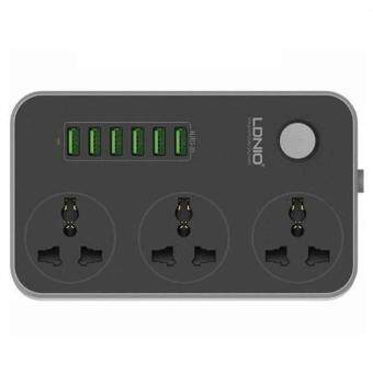[GENUINE] LDNIO SC3604 Power Strip with 3 AC Sockets + 6 USB Ports (Black)