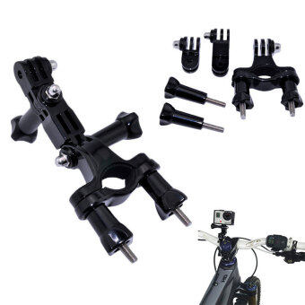 Handlebar Seatpost Pole Go Pro bike Holder Bicycle Mount Bracketforfor GoPro Hero 4/3+/3/2/1 xiaomi yi Accessory