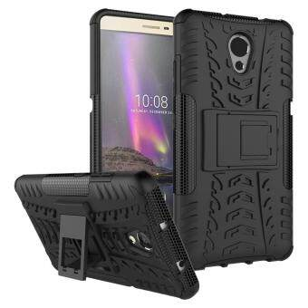 Heavy Duty Armor Case For Lenovo P2 Dual Layer Shockproof KickstandProtective Cover Black