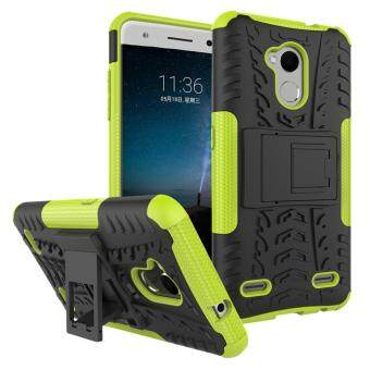 Heavy Duty Armor Case For ZTE Blade V7 Lite Dual Layer ShockproofKickstand Protective Cover Green