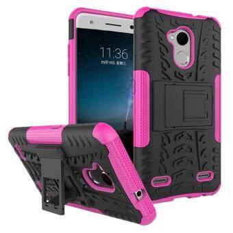Heavy Duty Armor Case For ZTE Blade V7 Lite Dual Layer ShockproofKickstand Protective Cover Hotpink