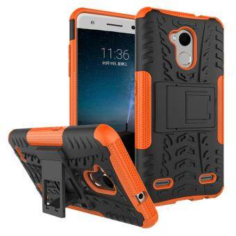 Heavy Duty Armor Case For ZTE Blade V7 Lite Dual Layer ShockproofKickstand Protective Cover Orange