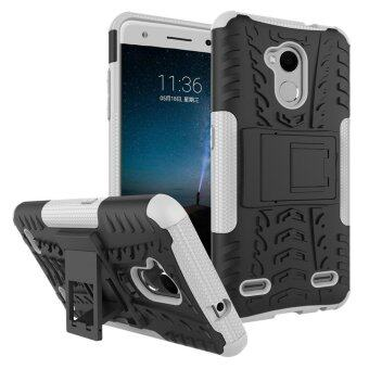 Heavy Duty Armor Case For ZTE Blade V7 Lite Dual Layer ShockproofKickstand Protective Cover White