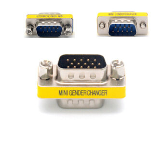 High Quality 1Pcs 9 Pin RS-232 DB9 Male To Male DB9 M-M SerialCable Gender Changer Coupler Connector Adapter Converter