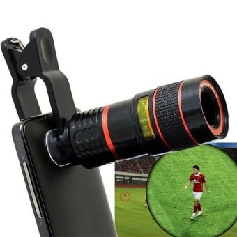 Hot 8X Zoom Clip-on Telescope Camera Optical Lens For Various CellPhone for iPhone 6 For Samsung Smart Phone Telescope