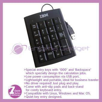 IBM USB Portable Mini Numeric Keypad/Keyboard Calculator for Laptop/Notebook PC User