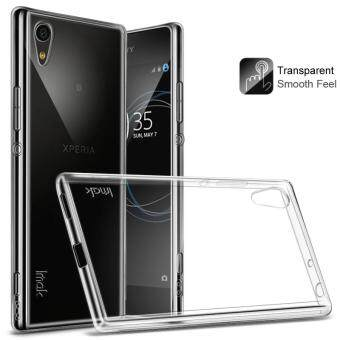 IMAK Clear TPU Soft Mobile Phone Case + TPU Explosion-proof ScreenProtector Film for Sony Xperia XA1 - Transparent