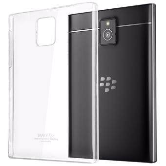 IMAK Extra Wear Hard Plastic Crystal Back Cover case For blackberrypassport Q30 - (Transparent Clear)