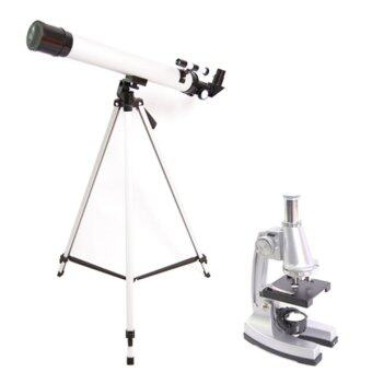 JD High Quality Fully Function 2 In 1 Real Telescope &Microscope Combo Set