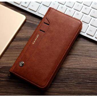 Lantoo iPhone 7 Plus Case,Leather iPhone 7 Plus Wallet Case BookDesign with Flip Cover and Stand [Credit Card Slot] MagneticClosure Cover Case for Apple iPhone 7 Plus - brown