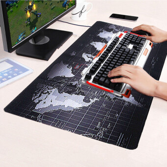 Large Size Non-Slip World Map Speed Game Mouse Pad Gaming Mat for Laptop PC 70cm x 30cm