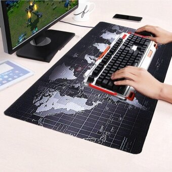 Large Size Non-Slip World Map Speed Game Mouse Pad Gaming Mat forLaptop PC 70cm x 30cm