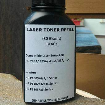 Laser Toner Refill Powder For HP285A/325A/435A/85A/35A LaserPrinter HP L1000 Series (Black)