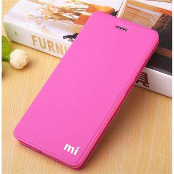MI Flip Leather phone cover case For Xiaomi Redmi Note 4X(Rose Red)