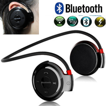 Mini Bluetooth Earphone Headset With with Microphone CSR A2DP AVRCP FM Radio Mic Sport Wireless Stereo Headphones + Micro SD Card Slot auriculares