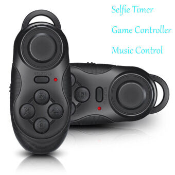 Mini Portable Multi-functional Wireless Bluetooth 2.0 Self Timer Remote Selfie Shutter for Apple IOS Android 4.0 Game Console Gamepad Controller for APK iCade Games Black