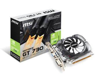 MSI nVIDIA GEFORCE GT730 PCI-E Graphic Card - 2GB DDR5 / 64Bit / HDMI , DVI , VGA Port