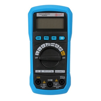 niceEshop Auto Ranging Digital Multimeter Voltage/Current/Temperatur Tester DMM, Blue
