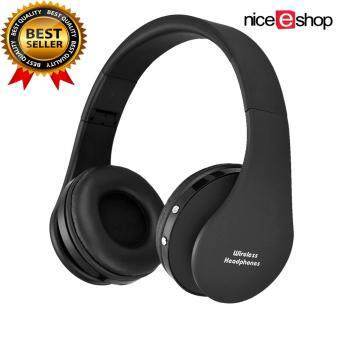 niceEshop Wireless Bluetooth Foldable Headset Stereo Headphone Earphone (Black)