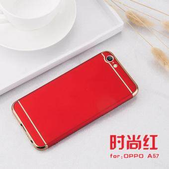 Oppo A57 Luxury Protective Matte Case Cover Casing(Red)