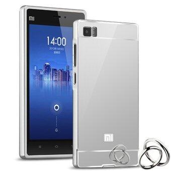PC Luxury Metal Aluminum Bumper Case for Xiaomi Mi 3 M3 (Silver)