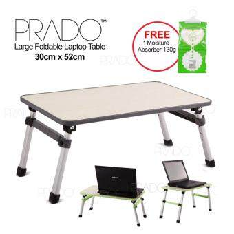 PRADO Foldable Laptop Table Adjustable Portable Notebook Bed Desk-Grey G0504-GY