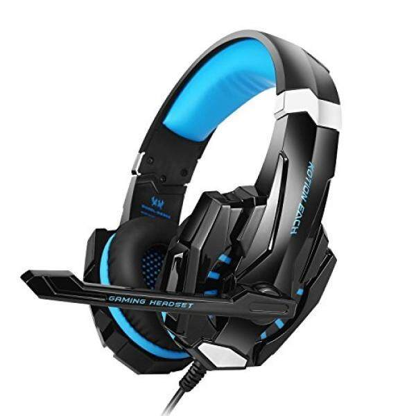 PS4 Xbox One Wii U Gaming Headset Over Ear Headphone WithMicrophone Game Professional Blue LED Light - Blue - intl