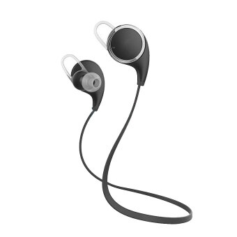 QY8 Wireless Bluetooth 4.1 Headset Sport Headphone Earphone (Black)