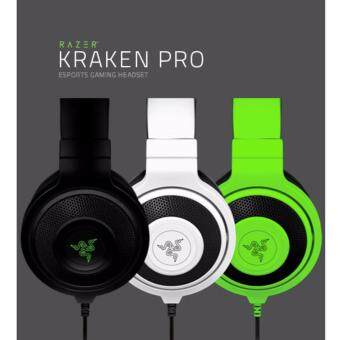 Razer Kraken Pro ESports Gaming Headset Headphones With RetractableMicrophone, In-Line Volume Controls & Mute Toggle (Green)
