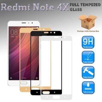 Redmi Note 4X Full Tempered Glass Screen Protector (Black)