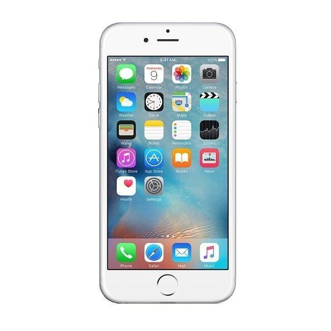 refurbished apple iphone 6 plus 128gb silver grade a. Black Bedroom Furniture Sets. Home Design Ideas