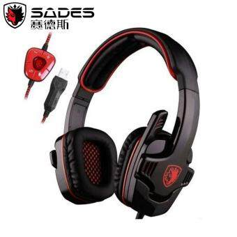 SADES SA901 [NP80] Pro USB PC Gaming Headset 7.1 Surround Stereo Headband Headphones with Microphone Deep Bass Volume Controller and Mute Function for PC Gaming/Laptop