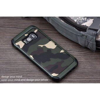 Samsung Galaxy S8 Plus Army Armor Camo Case Cover Casing(Green)