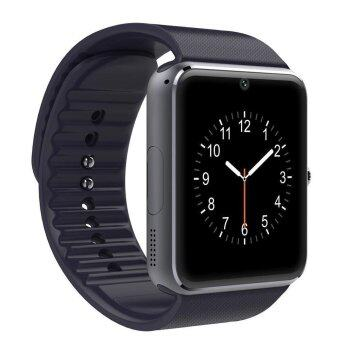 Smart Watch Clock Sync Notifier With Sim Card BluetoothConnectivity (Black)
