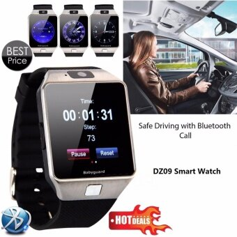 Smart Watch DZ09 With Camera Anti-lost Bluetooth WristWatch SIM Card MP3 Player Smartwatch for Apple ios and android phone Support Multi languages(Black)