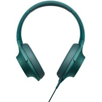 Sony MDR-100AAP Hi-Res Over-Ear Mobile Phone Headphones with Mic (Viridian Blue)