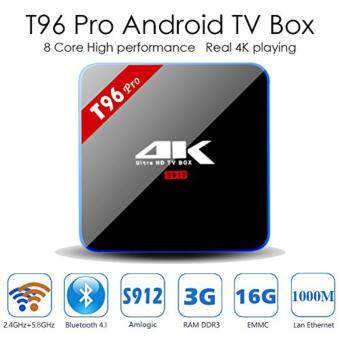 T96 Pro Android 6.0 Amlogic S912 Octa Core 3GB RAM/16GB ROM OTT Smart TV BOX