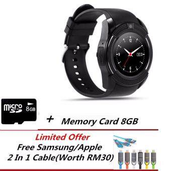 V8 Bluetooth Smart Watch For Android/IOS+8GB Memory Card+LimitedFree Gift