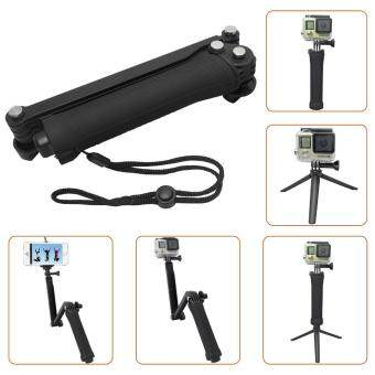 Waterproof For Gopro Tripod 3 Way Monopod For Gopro Hero 5 3+ 4Session Xiaomi yi SJCAM SJ4000 Camera Grip Go Pro 5 Accessories
