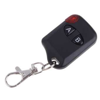 Wireless Electric 2 Key Garage Gate Door Remote Control 433MHz(Black)