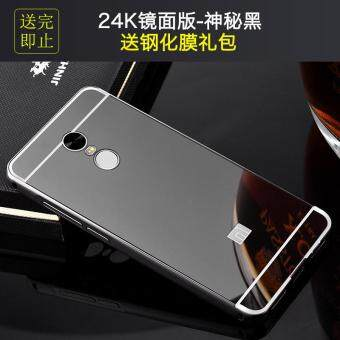 Xiaomi Redmi Note 4 phone Case,Luxury Metal Air Aluminum BumperDetachable + Mirror Hard Back Case 2 in 1 cover Ultra-Thin FrameCase For Xiaomi Redmi Note 4/ Xiaomi Redmi Note4/XiaomiRedmiNote4/Xiaomi Red mi Note 4/redmi note4